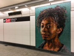 Mosaic portrait of the artist Kara Walker