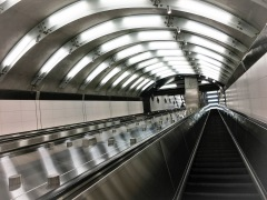Escalator at the 86th Street Station